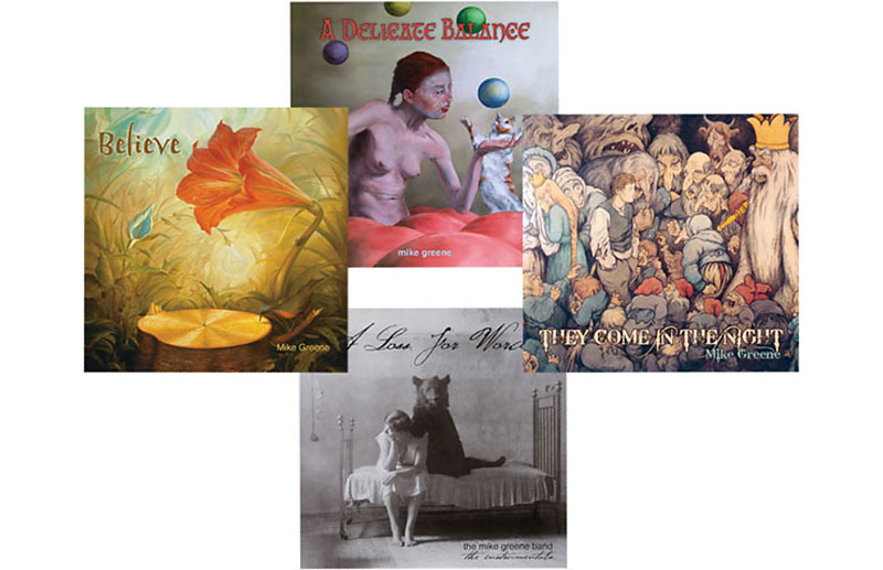 Mike Greene Music - CD covers