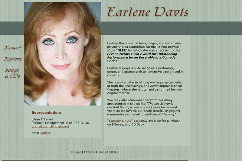 Earlene Davis - actress, singer, and writer