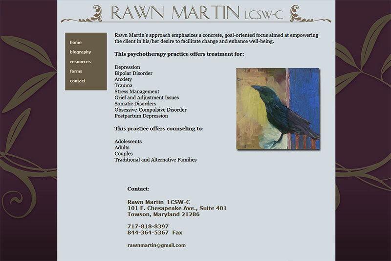 Rawn Martin - psychotherapy practice