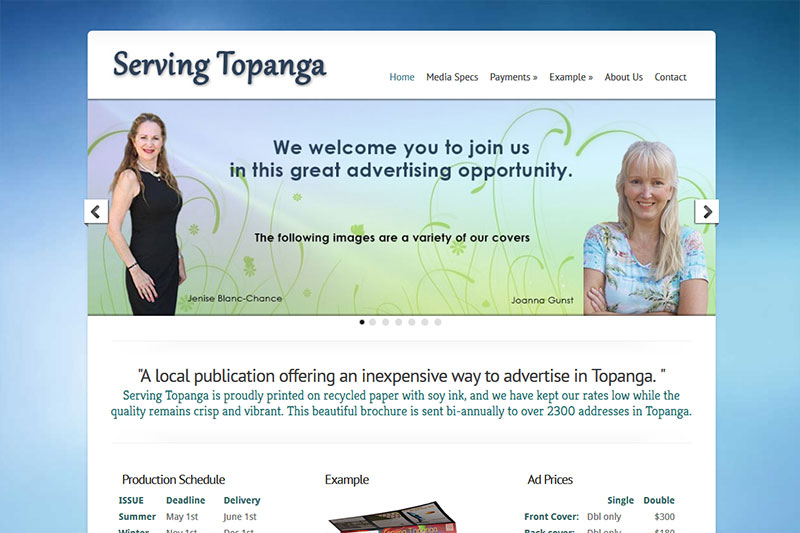 Serving Topanga - Advertisement Brochure